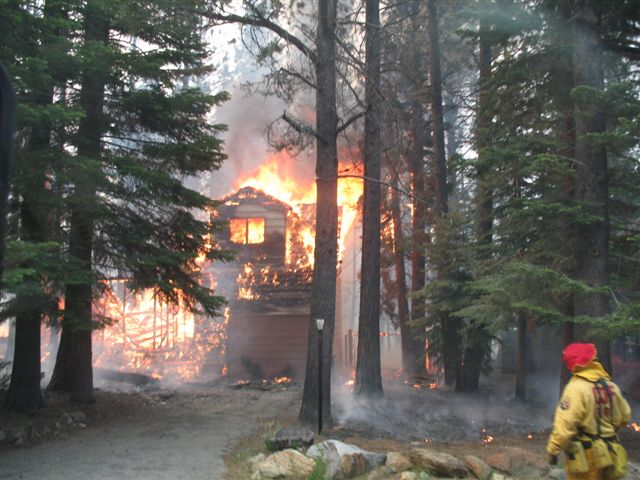 Photo Taken by NFD during the Angora Fire, South Lake Tahoe, CA 2007